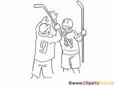 Malvorlagen Eishockey Ausmalen Zwei Eishockeyspieler Zum Ausmalen Ausmalbild