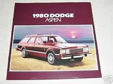 car repair manuals online free 1976 dodge aspen parental controls 1980 dodge aspen automoblie car sales brochure mint ebay