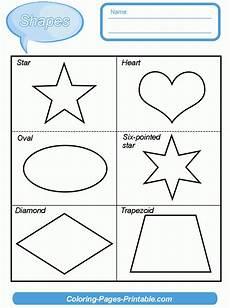 shapes worksheets for kindergarten pdf coloring pages printable com