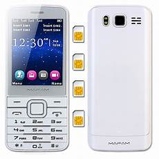 mobile voice changer mafam 4 sim four standby plastic slim mobile phone