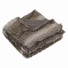 plaid fourrure gris homemaison vente en ligne plaid