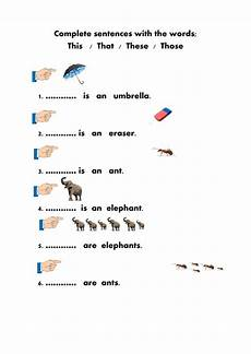 grammar worksheets this that these those 24996 demonstratives interactive worksheet