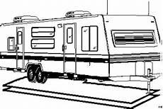 anhaenger wohnwagen platte ausmalbild malvorlage die