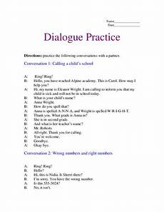 dialogue practice worksheet for 2nd 3rd grade lesson planet