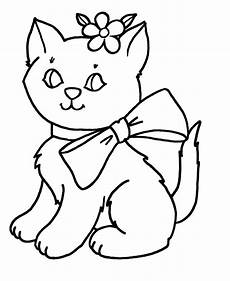cat color pages printable objects early learners
