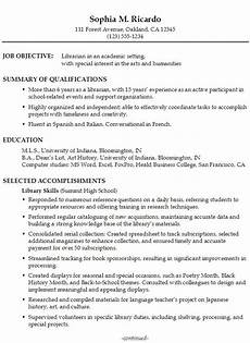 functional resume sle academic librarian