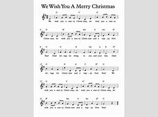 We Wish You A Merry Christmas Piano Sheets-We Wish You A Merry Christmas Notes