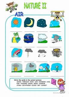 nature elements worksheets free 15091 nature elements air matching worksheet free esl printable worksheets made by teachers
