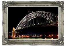 sydney harbour bridge lights architecture art mural
