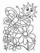 Spring Color Page Printable Coloring Pages Imposing