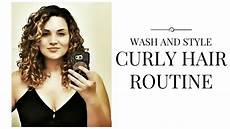 wash style curly hair routine air dry routine 3a 3b type deva curl youtube