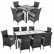 Polyrattan Grau Sitzgruppe - rattan sitzgarnitur braun grau polyrattan gartenm 246 bel set