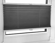 plissee faltrollo inkl klemmtr 228 ger anthrazit 45x120 cm