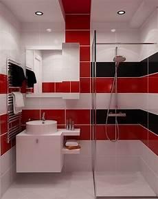 fliesen verlegemuster bad badfliesen rot wei 223 und schwarz badezimmer kleine