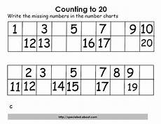 counting numbers worksheet 1 20 7999 math activities for counting to twenty worksheets for kindergarten search and counting to 20