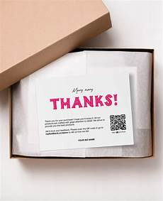 thank you packaging card template printable thank you cards business thank you cards