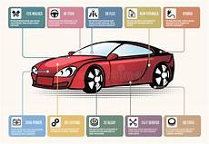 car parts for infographics stock vector illustration of
