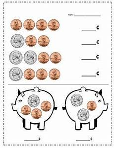 money worksheets pennies and nickels 2289 nickel and piggy bank practice by ambedu tpt