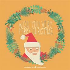 wish you a very merry christmas card vector free download
