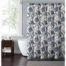 Blue And Grey Shower Curtain style 212 bettina floral 72 in blue and grey shower