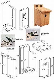 tree swallow house plans bird houses nesting boxes instructions tree swallows