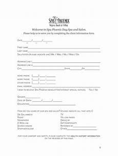 spa client intake form template fill online printable fillable blank pdffiller