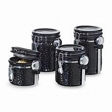 oggi kitchen canisters oggi hammered ceramic 4 canister set black bed