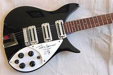 lennon guitar rickenbacker rickenbacker 355 jl lennon limited edition signature guitar 1990 black reverb