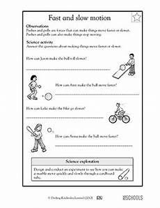 physical science forces worksheet 13085 1st grade 2nd grade kindergarten science worksheets fast and motion science worksheets