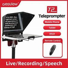phone interview shopee bestview t2 big screen prompter professional interview teleprompter anchorman host for dslr for