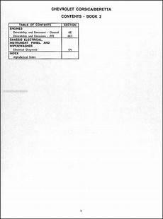 free car repair manuals 1995 chevrolet beretta parking system 1995 chevy corsica beretta repair shop manual original set