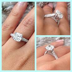 my cushion cut pave engagement ring weddingbee photo gallery