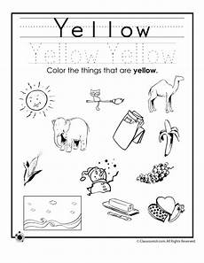 learning colors worksheets for preschoolers color yellow