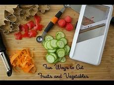 ways to cut fruits and vegetables cooking tips