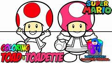 how to color toad and toadette mario nintendo