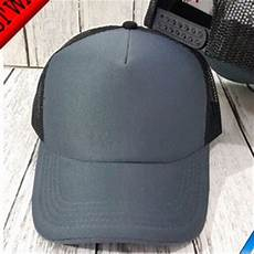 bahan topi trucker jual topi trucker depan abu bahan kain belakang hitam bahan jaring di lapak pusat grosir