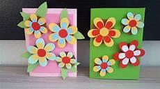 geburtstagskarte mit 3d blumen basteln diy handmade crafts
