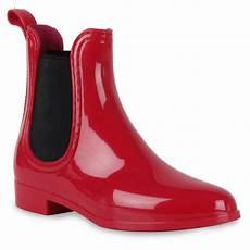 Ausgefallene Damen Gummistiefel Stiefeletten Lack Schuhe