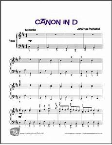 canon in d pachelbel easy piano sheet music