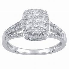 tradition diamond 10k white gold 1 2 cttw certified diamond empress ring size 7 only