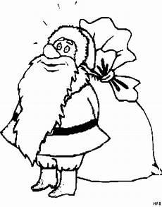 weihnachtsmann vor seinem sack ausmalbild malvorlage