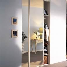 porte de placard miroir lot de 2 portes de placard coulissante miroir argent l 120