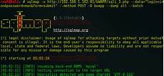 sql injection username and password exle