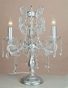 image silver 3 branch chandelier table l julianne