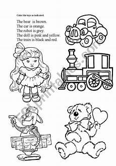 worksheets colors and toys 12707 toys esl worksheet by oliveira