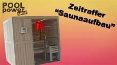 sauna selber bauen im zeitraffer