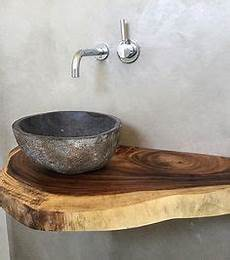 waschtisch gäste wc holz die besten 25 waschtisch holz ideen auf