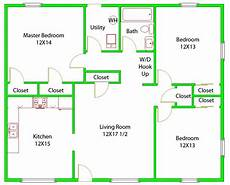 awesome 3 bedrooms floor plan pictures house plans 16333