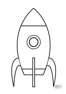 simple rocket coloring page free printable coloring