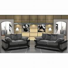 canape design et confortable ensemble canap 233 3 2 places gris et noir confortable